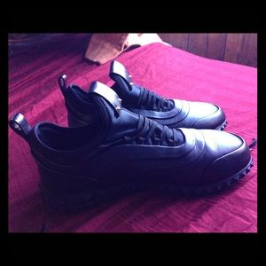 Valentino black leather sneakers